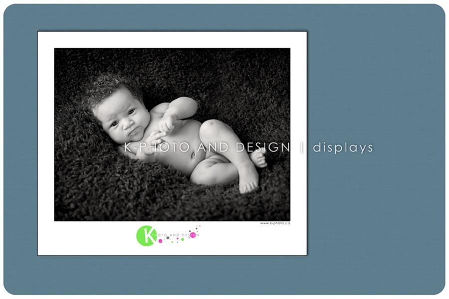 framed baby photo