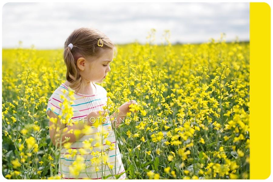 girl in canola field