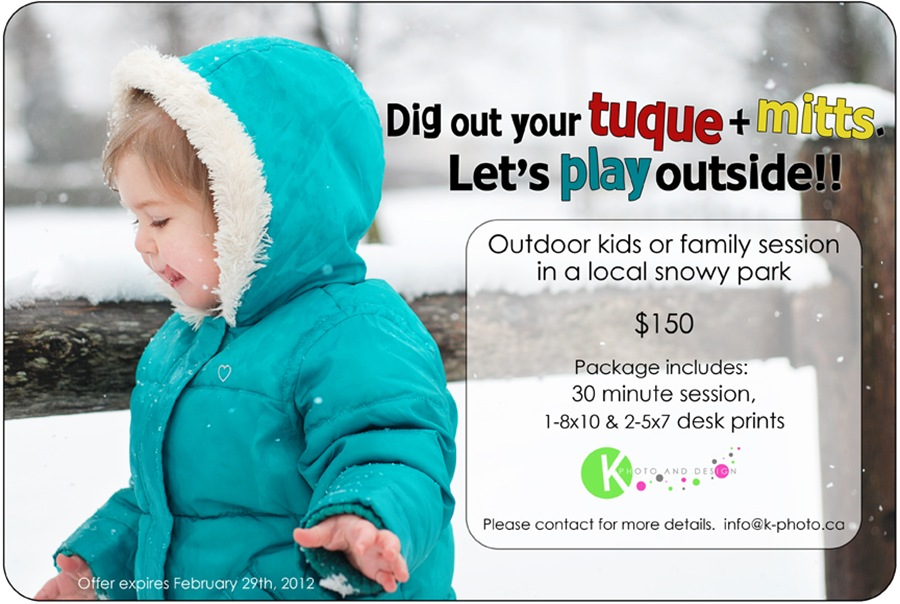 Outdoor winter photo package
