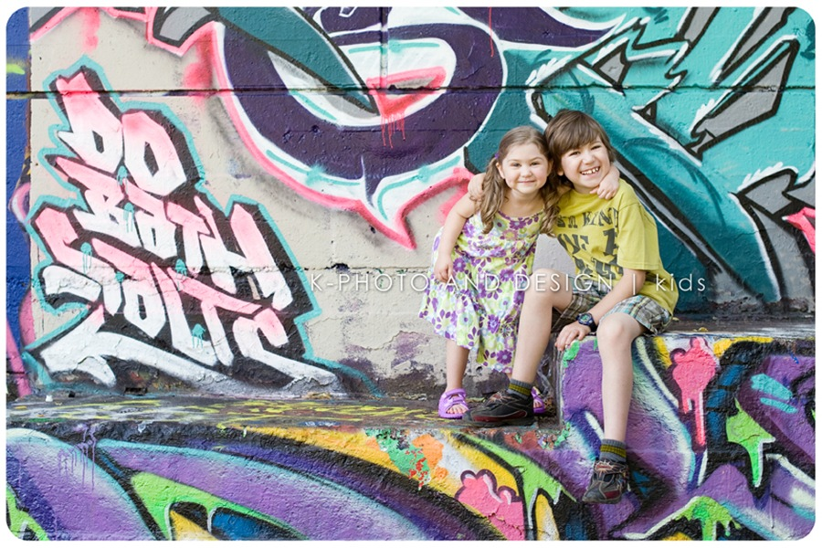 kids in graffiti