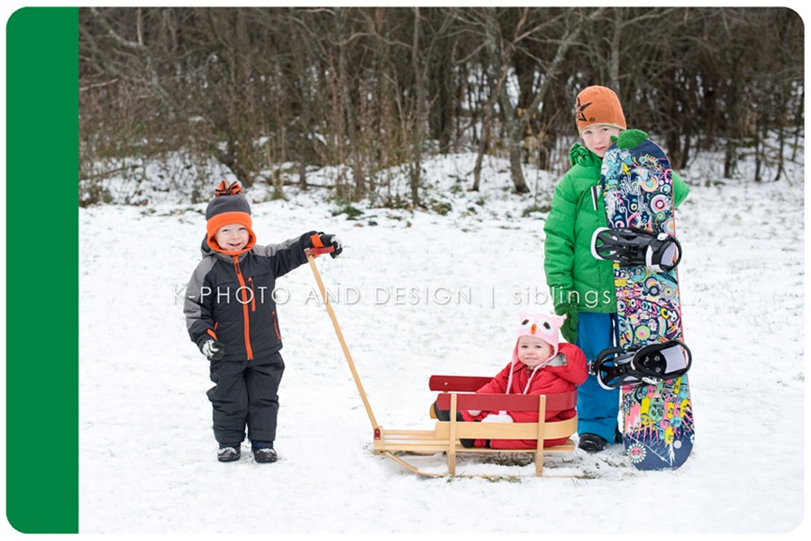 sledding kids