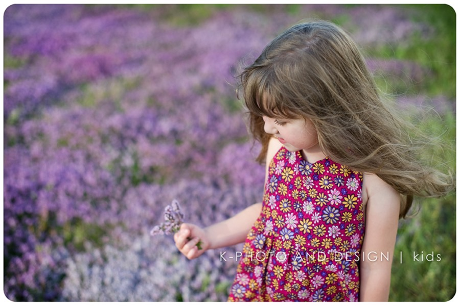 girl in purple flowers