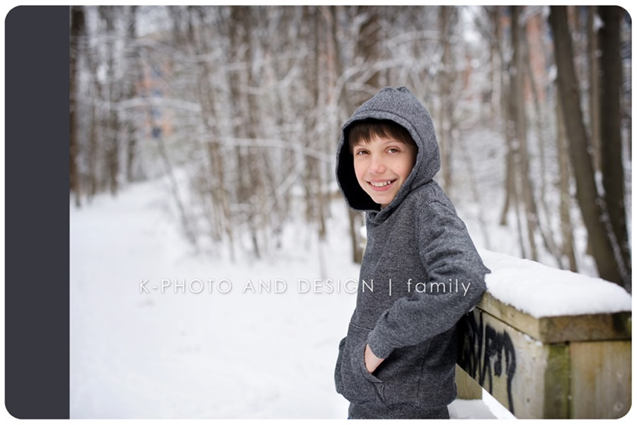 boy on a snowy day